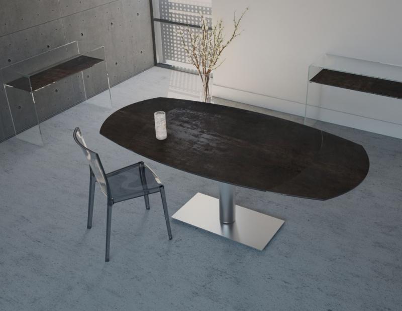Ou Trouver Une Table En Verre Moderne Avec Pied Central Inox Pas